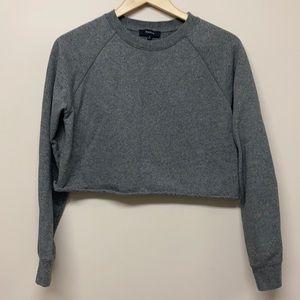 Aritzia Talula gray cropped sweater shirt